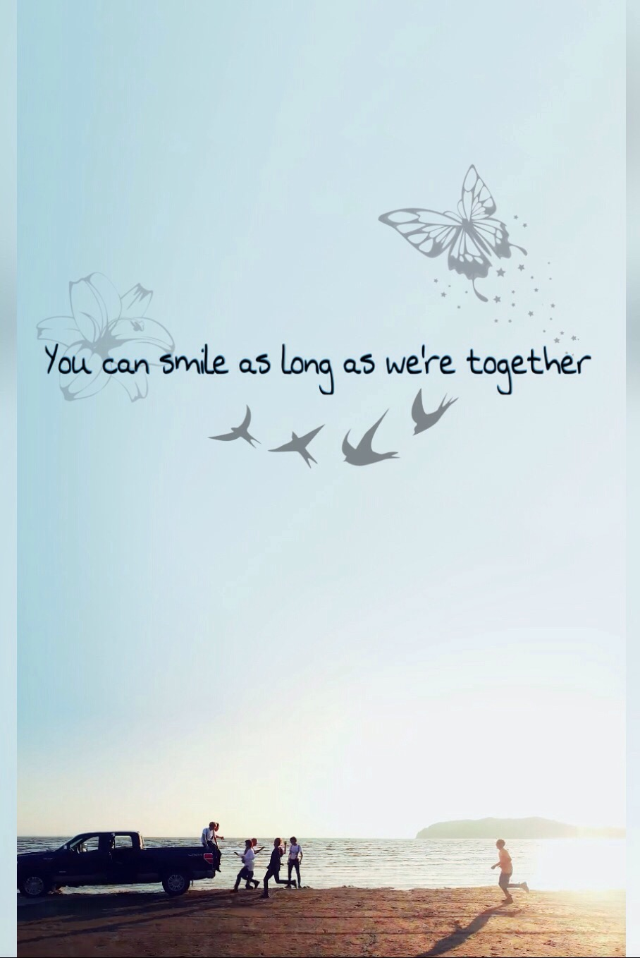 Bts Edit You Can Smile As Long As We Re Together Bt