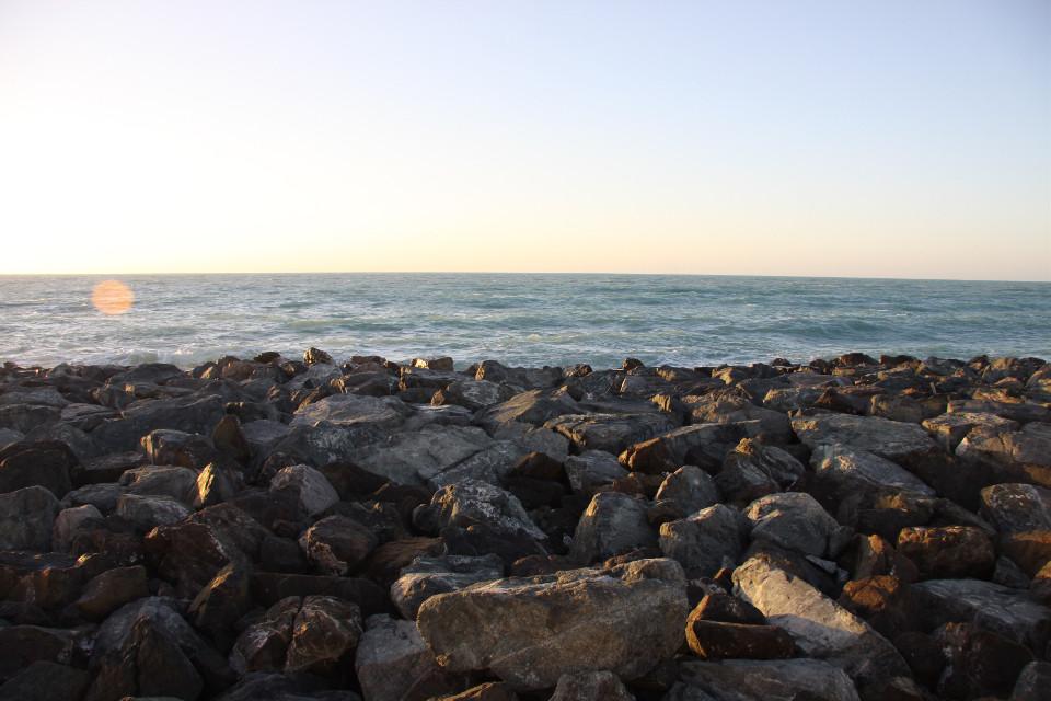 #freetoedit  #sea #stones  #sky #background #water  #sunset #grig15