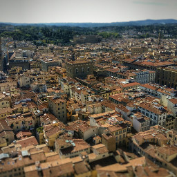 viev landscape roofs italy florence