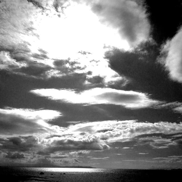 #sky #sea #cloud #wapblackandwhite