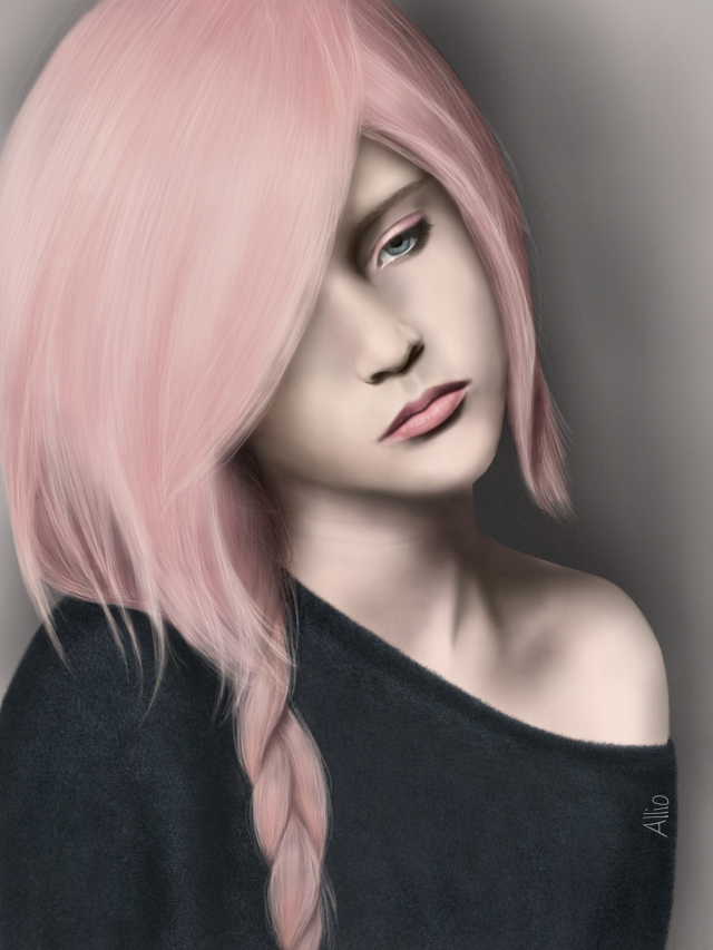 Sadness Watch the video on  http://youtu.be/eL7Kl6d5GEw Drawing made by me in PicsArt, no effects :) (Reference used for woman)  #drawing #sadness #sad #artistic  #woman  #art #emotions #pink