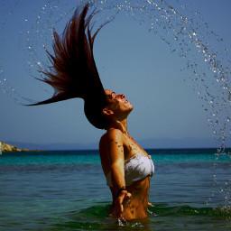 summer sun water hair hairstyle
