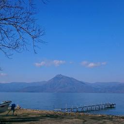 japan lake hokkaido lakeshikotsu bluesky