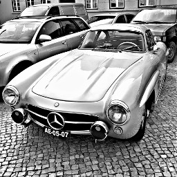 retro cars blackandwhite people hdr