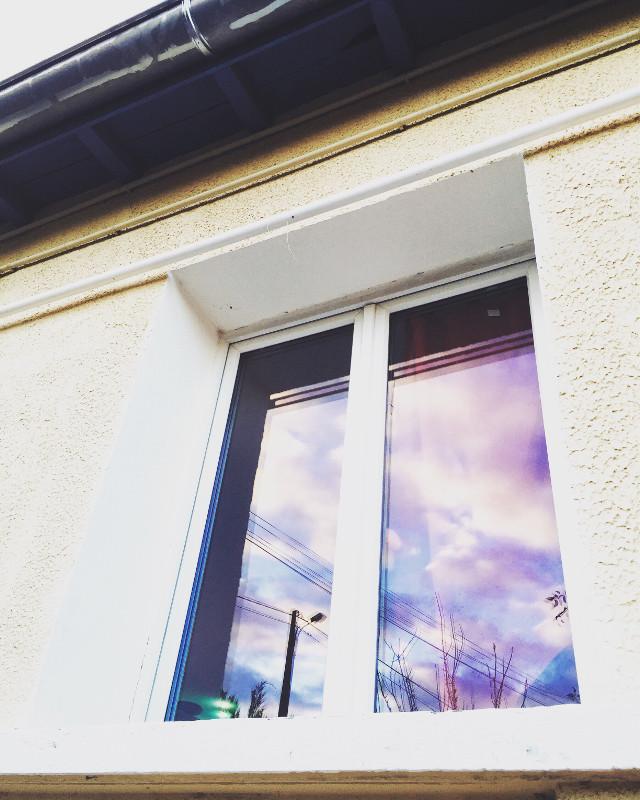 #interesting #art #photography #purple #sky #window #reflection #moments #picsart