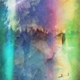 collage colorsplash juxtaposition doubleexposure emotions