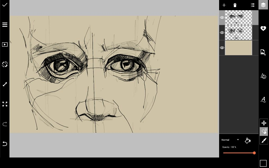 face sketch outline