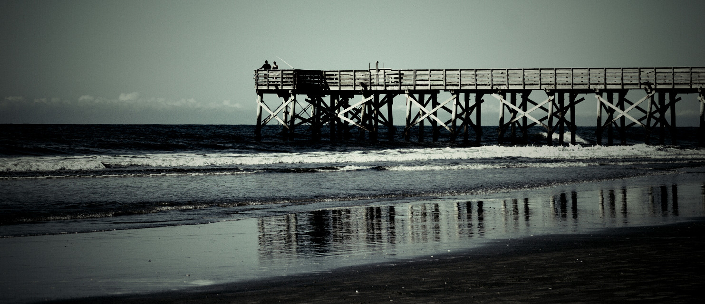 #photography #summer #beach #pier #horizon #sky #reflection
