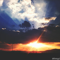 photography clouds colorful sky sunset sun nature