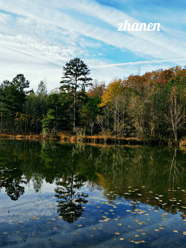 #nature #colorful #seasons #water # reflection #mirror #fall  #sky