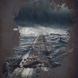 fterailway art clipart sea distorted