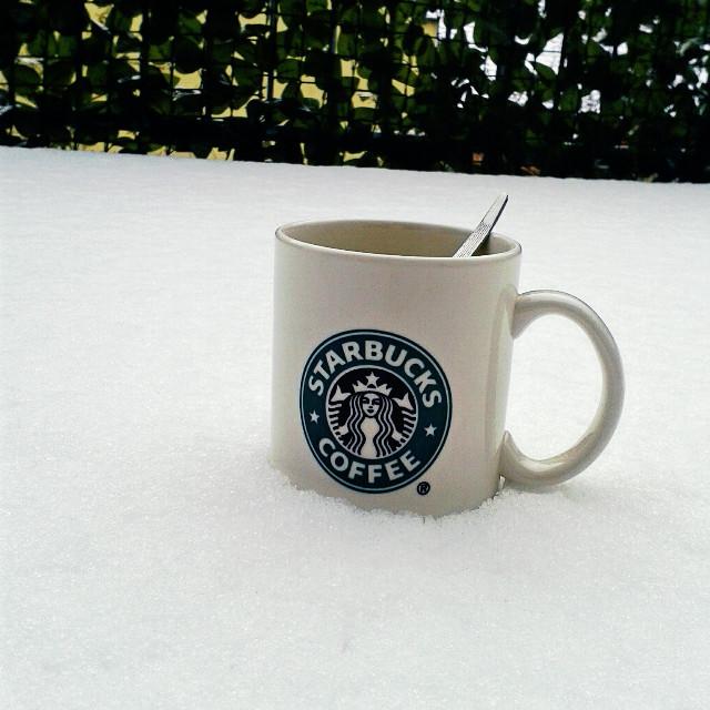 #starbucks  #winter #snow