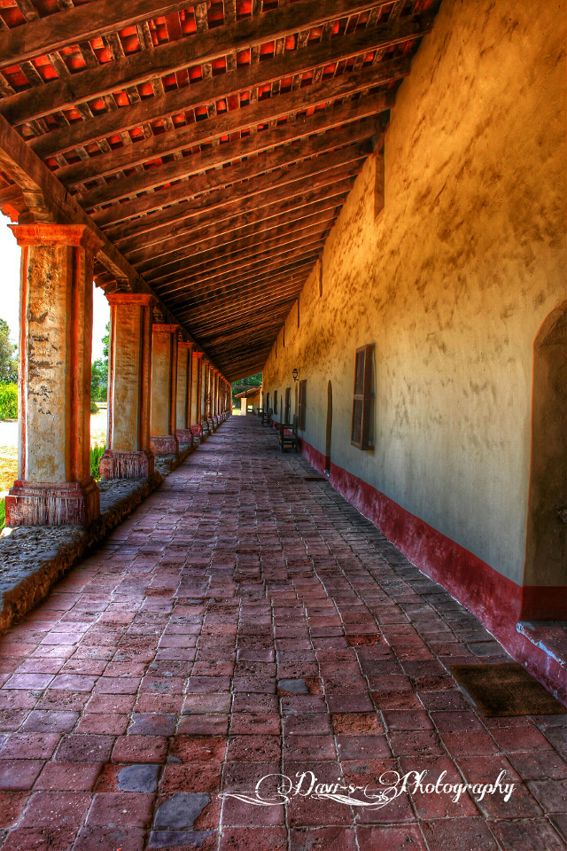 #hallway #photography  #architecture  #place  #building  #mission  #california  #Lompoc #travel #nature  walking through the old mission in Lompoc California