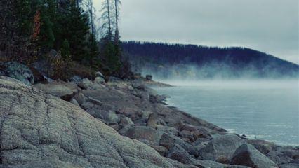 nature photography fog lake morning