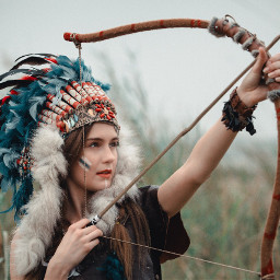 beautiful girl young indians archery