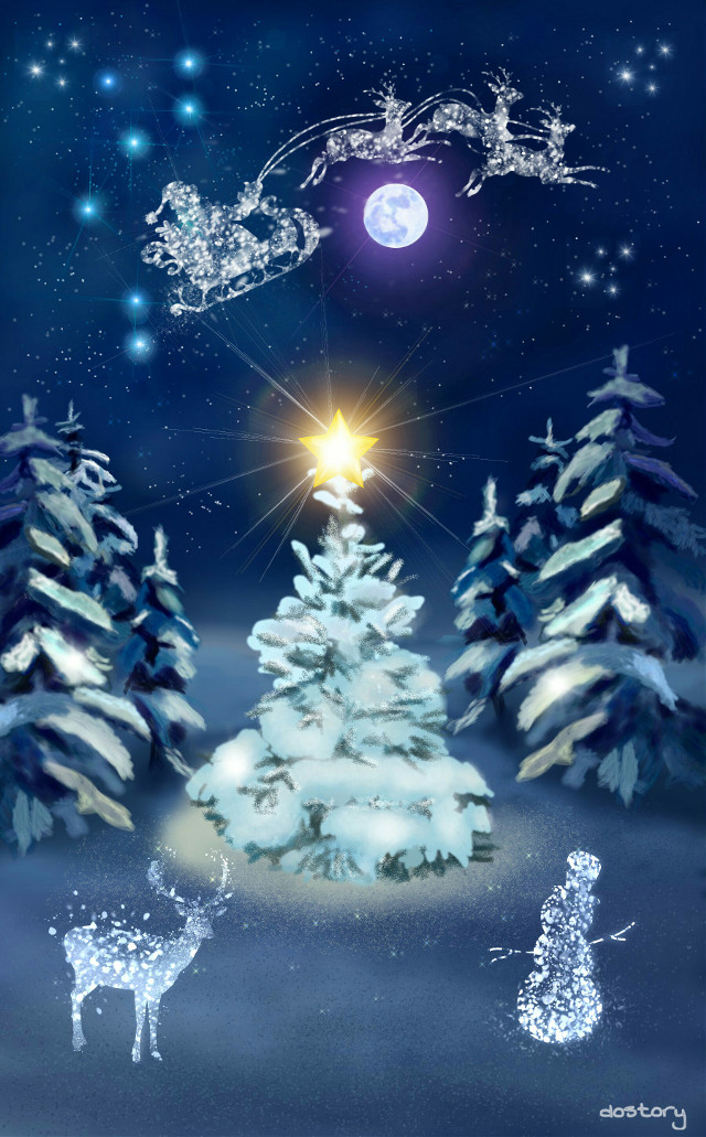 I wish you, your loved ones and Picsart a peaceful and happy Christmas and a good start into the New Year. Ich wünsche friedliche und frohe Weihnachtstage und einen Guten Rutsch ins neue Jahr. #drawing #clipart #Christmas #winter #Festive