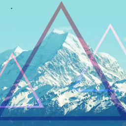 triangle mountains nature hipster wallpaper