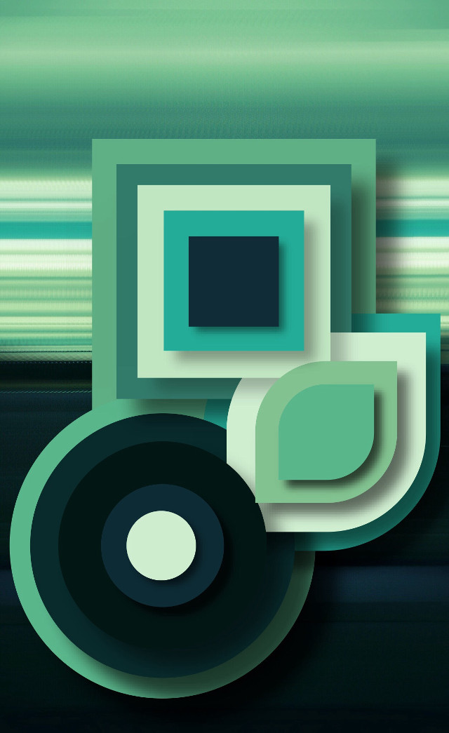 #tranquil #abstract #shape #colours #green #teal #fresh