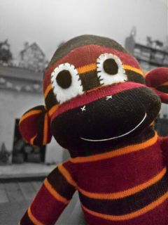 sockmonkey coloursplash plushie photography colourful