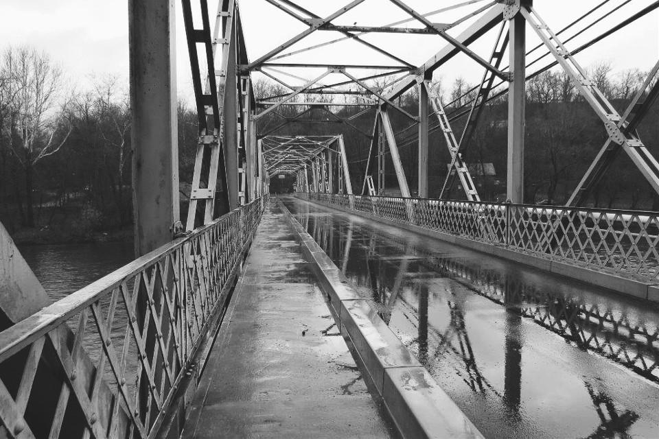 Rainy Sunday  #bridge #rain #winter #river