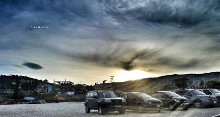 sunrise nature hdr clouds sky