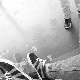 popart blackandwhite shoes