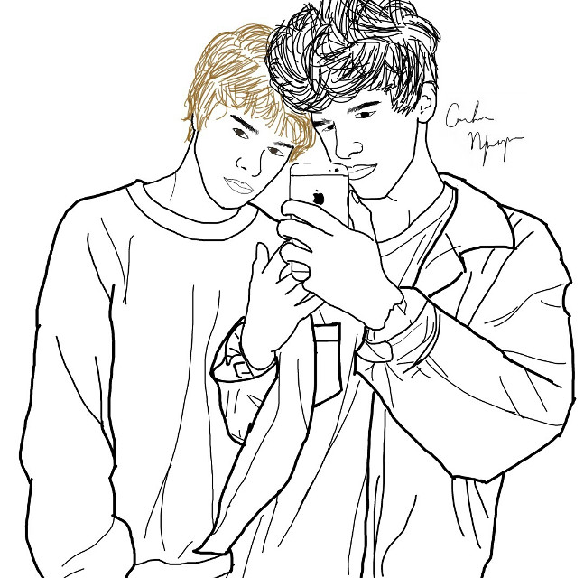 Christian and Mike #drawing