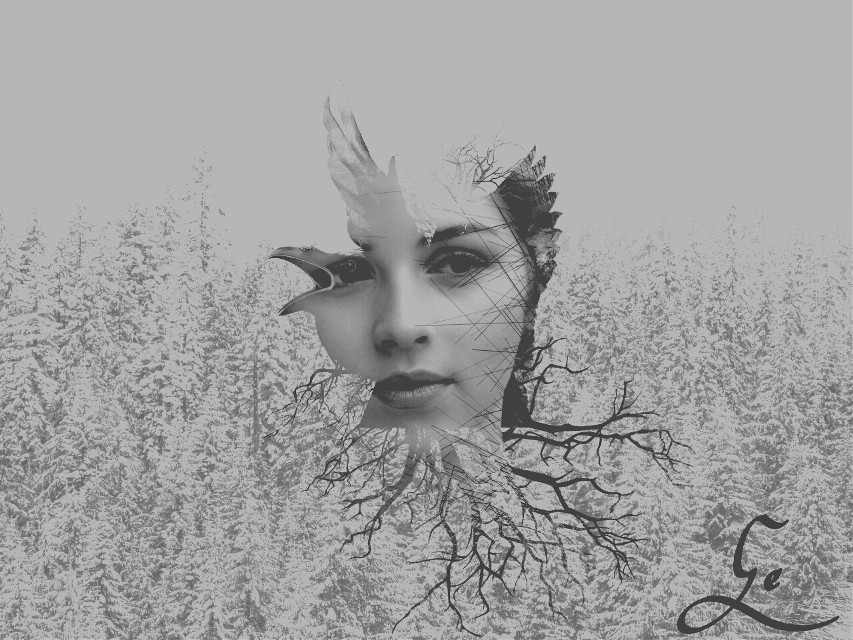 #illustration #surreal #portrait #face #doubleexposure #freetoedit #people #emotions