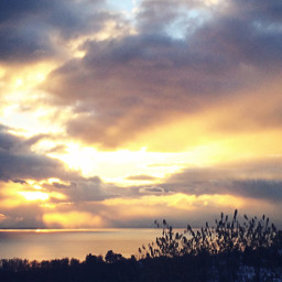 photography sunset nature wintertime