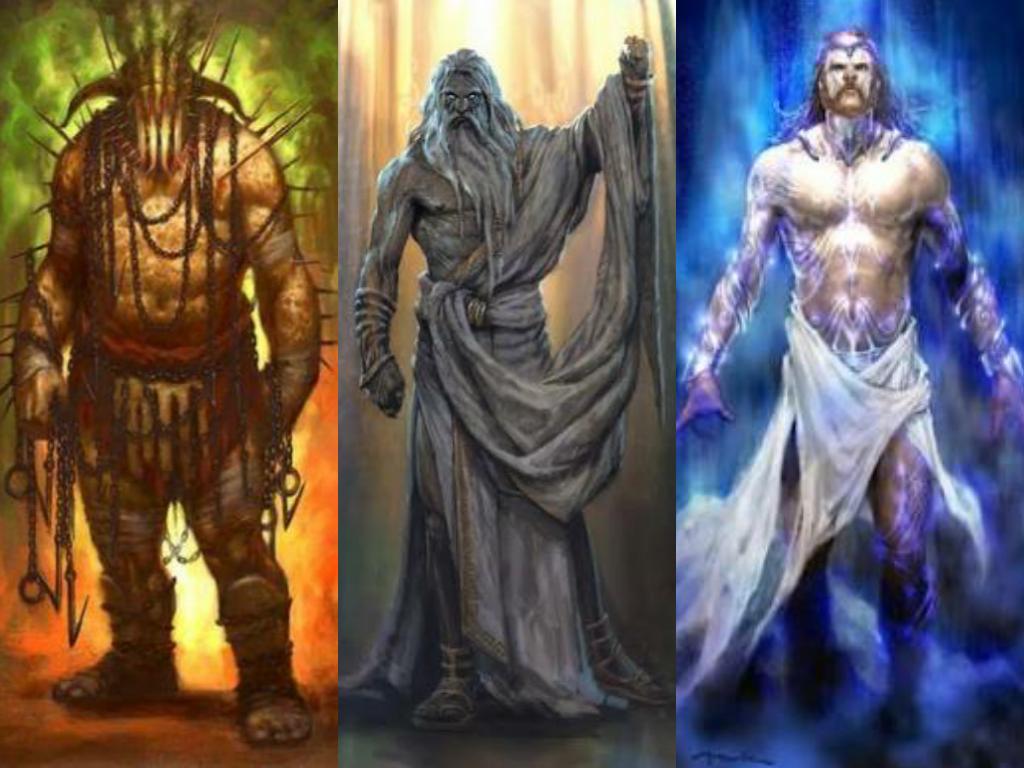 Hades Zeus Poseidon Concept Art In God Of War Series