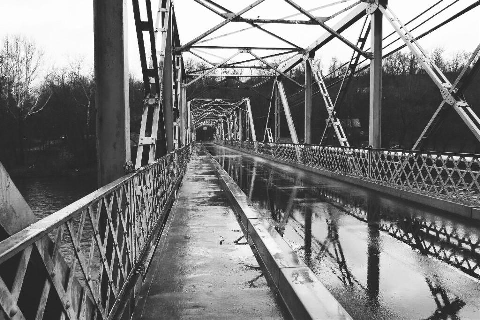 Re-post for #bridge #rain #blackandwhite