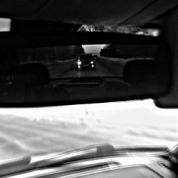 cars blackandwhite freetoedit travel winter