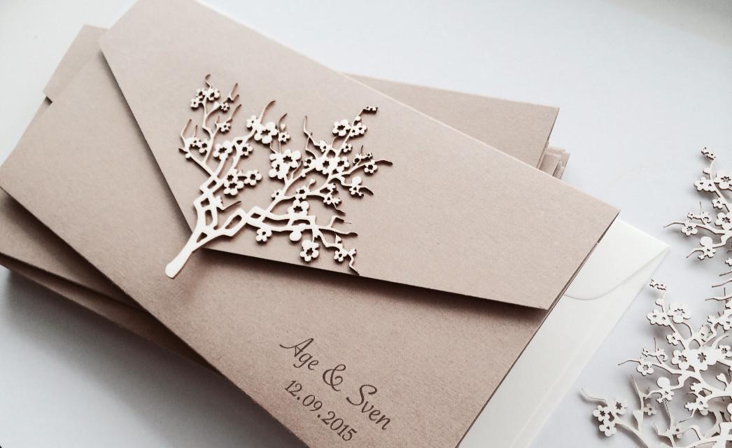 #Rusticwedding #cherry blossom #wedding #lasercut #handmade #tallinn #paperartist.eu