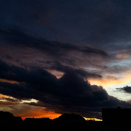 sky love colorful clouds sunset