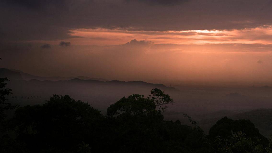 #sunrise #perlis #nature #malaysia #freetoedit  the sun a little bit shy ^_^
