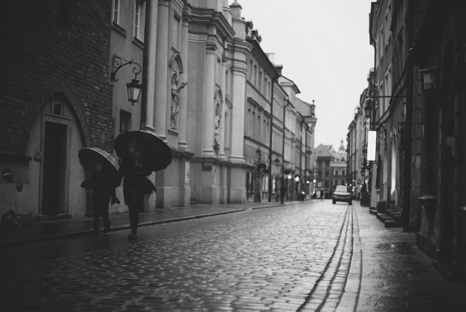 Warsaw Old Town #blackandwhite #city #people #photography