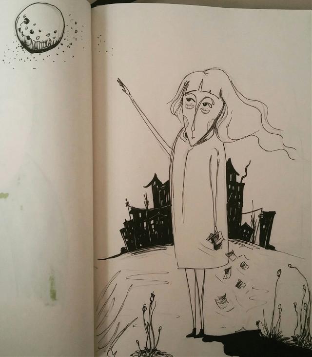 #illustration #illust #sketchbook #illustrationoftheday #colors #drawingoftheday #draw #mywork #artwork #creativework #paint #painting #drawing #eskiz #love #like #artsy #artist #arte #art #instalike #instaart #life #illustrationart #childrenbookillustration #book #sketch #sketching #moon #watercolor