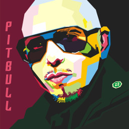 wpap colorful pitbull