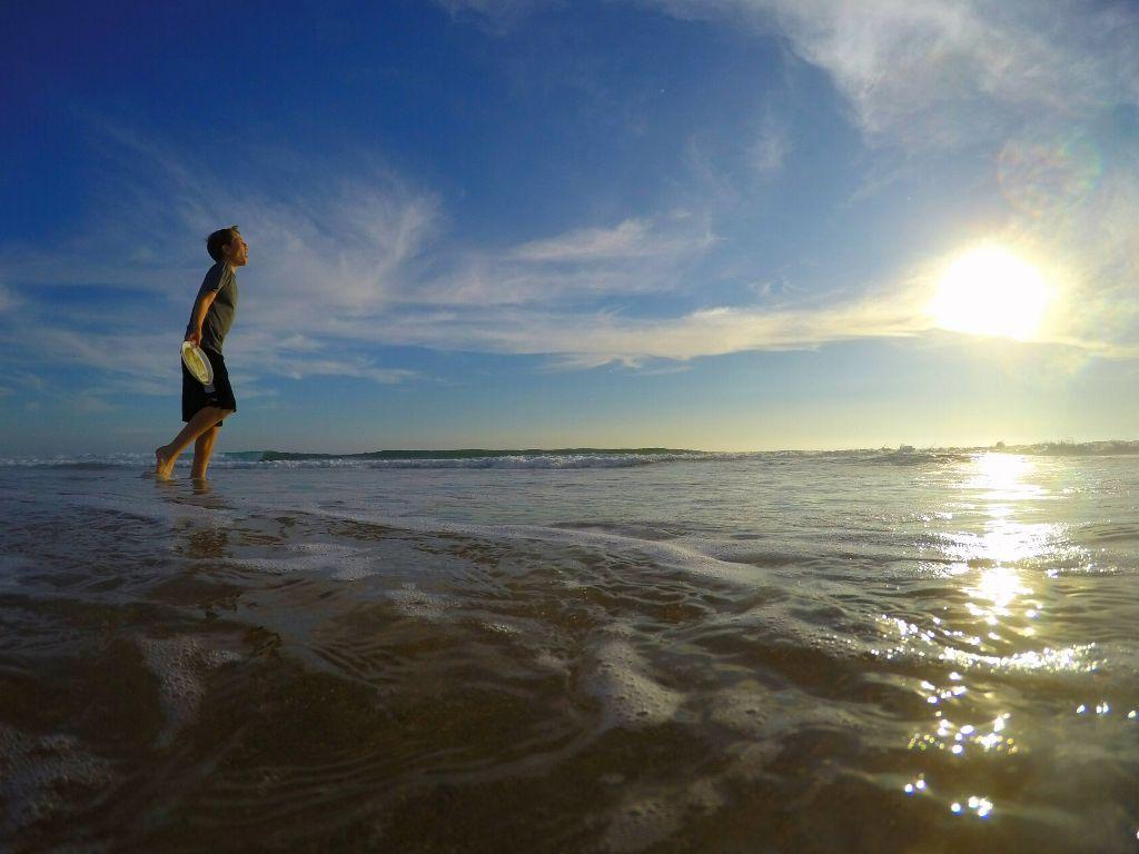 Walking on water  #beach #water #ocean