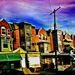 photography colorful sky neighborhood housing