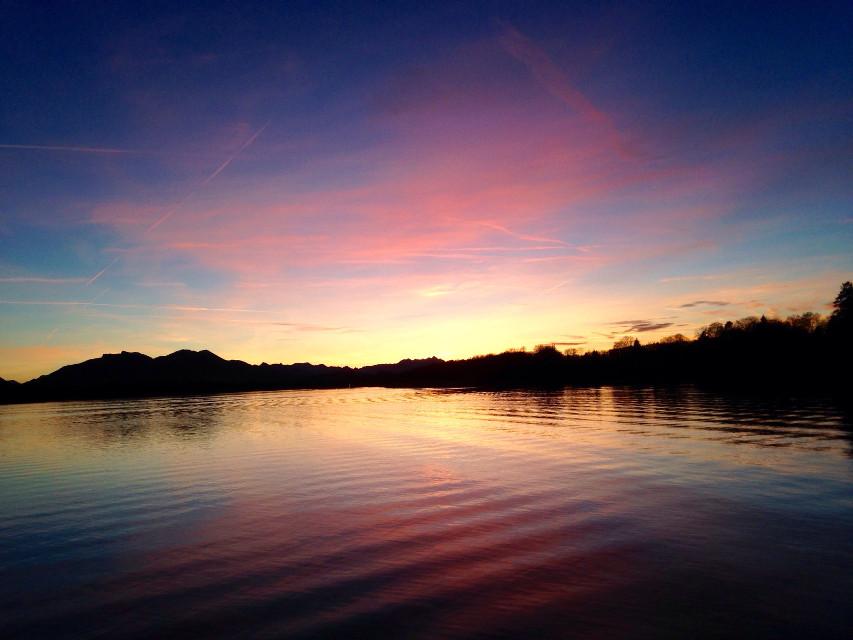 Tramonto #chiemsee # nature   #sunset #wppcolorful  #FreeToEdit #pcworldphotoday
