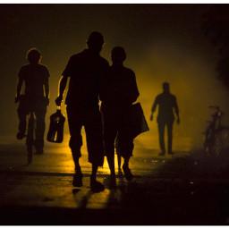 dailylife silhouette lightanddark people pa