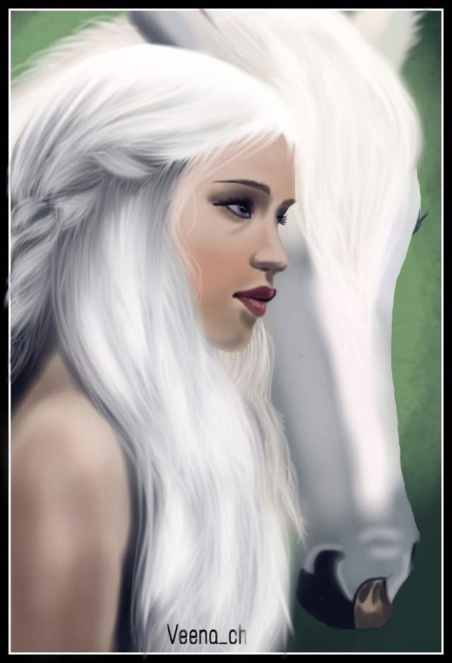 #drawing #mydrawing #art #digitalart #digitaldrawing #khaleesi #horse #petsandanimals #wdpwomenpotraits  Reference Used