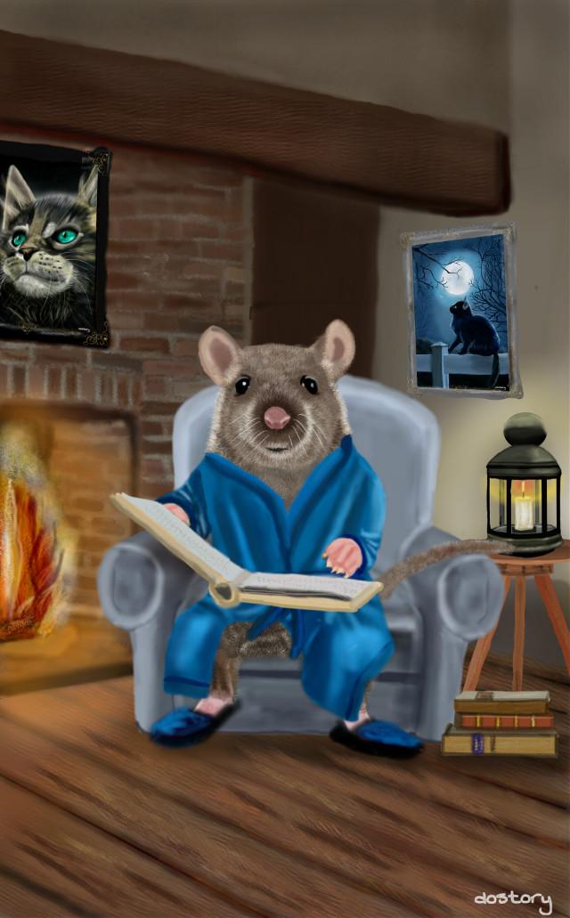 Good evening 💙  #drawing #digitaldrawing #mouse #petsandanimals