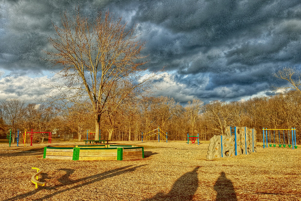 #sunset at the #park #shadows