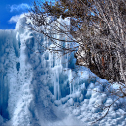 landscape nature blue ice art freetoedit