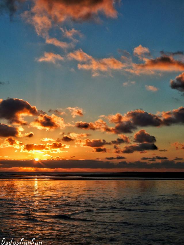 "France... Bonne Anse ""La Palmyre""    #france #freetoedit #sunset #cloud #sun #love #emotions #cute #travel #photography #colorful #HappyPlace #nature"
