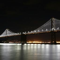 sanfrancisco bayarea baylights nightsky bridge