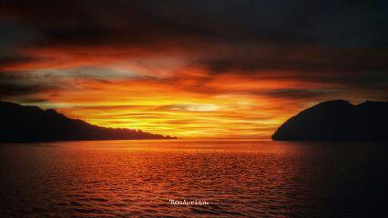 sea sunset sky photography landscape