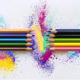 splash colorful freetoedit pencilart clipartqueen